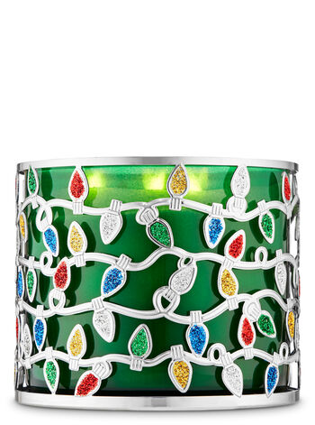 Christmas Lights 3-Wick Candle Holder - Bath And Body Works
