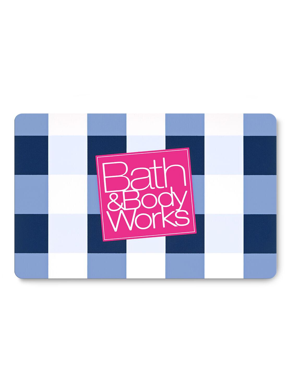 Blue Gingham Gift Card | Bath & Body Works