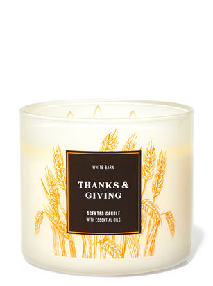 Thanks & Giving 3-Wick Candle