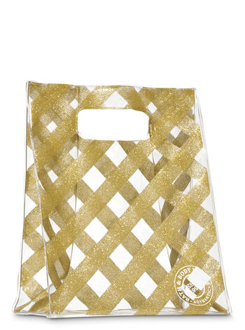 Gold Striped Gift Bag - Bath And Body Works