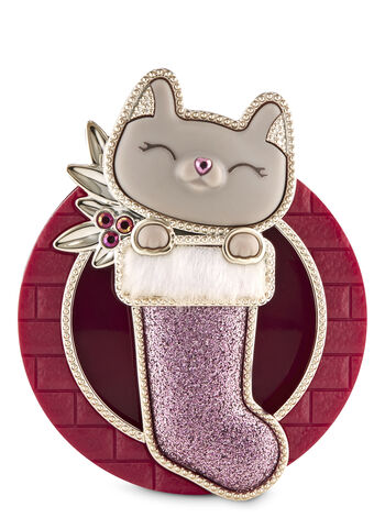 Cat in Stocking Visor Clip Car Fragrance Holder