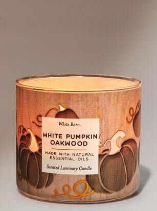 White Pumpkin Oakwood 3-Wick Candle