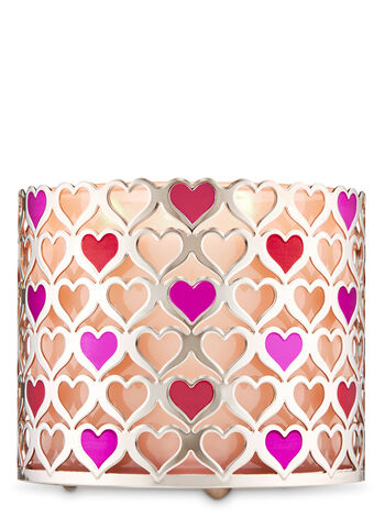 Hearts 3-Wick Candle Holder - Bath And Body Works