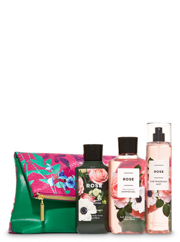 Rose Fold-Over Cosmetic Bag Gift Set
