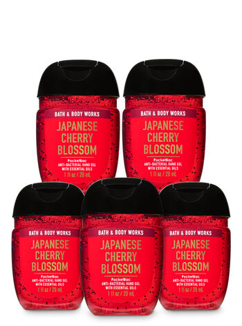 Japanese Cherry Blossom PocketBac Hand Sanitizers, 5-Pack - Bath And Body Works
