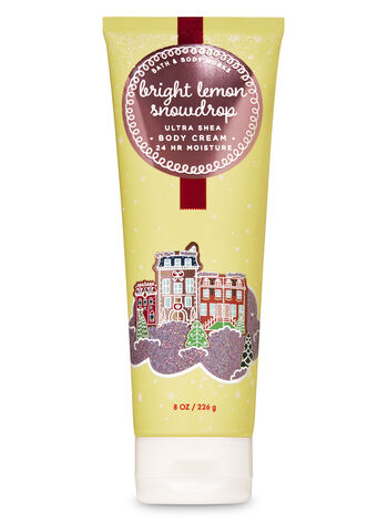 Bright Lemon Snowdrop Ultra Shea Body Cream - Bath And Body Works