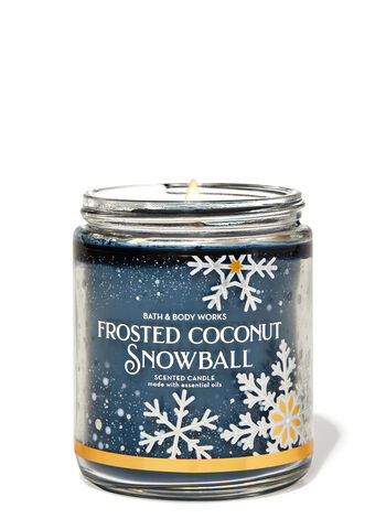 Frosted Coconut Snowball Single Wick Candle