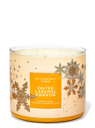 Salted Caramel Eggnog 3-Wick Candle