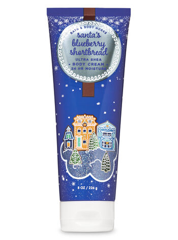 Santa's Blueberry Shortbread Ultra Shea Body Cream - Bath And Body Works