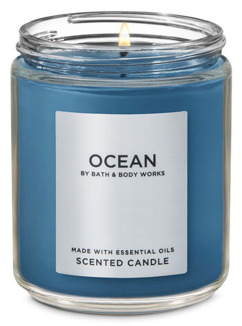 Ocean Single Wick Candle - Bath And Body Works