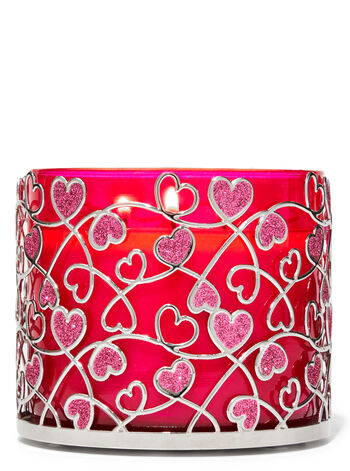 Heart Scroll 3-Wick Candle Holder