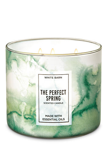 White Barn The Perfect Spring 3-Wick Candle - Bath And Body Works