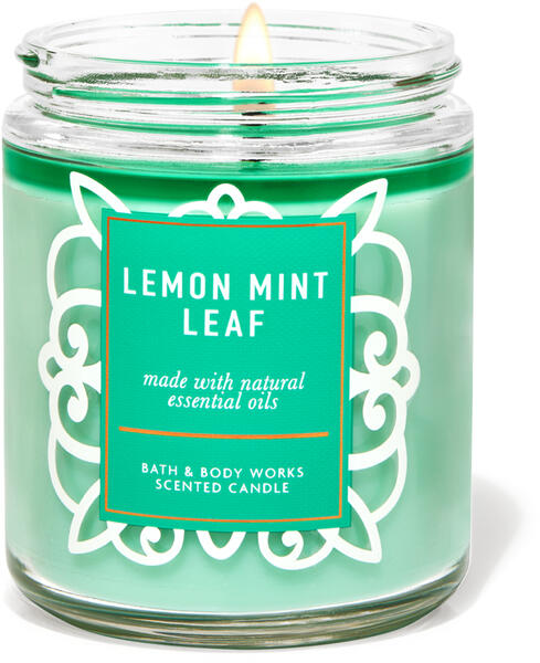 Lemon Mint Leaf Single Wick Candle