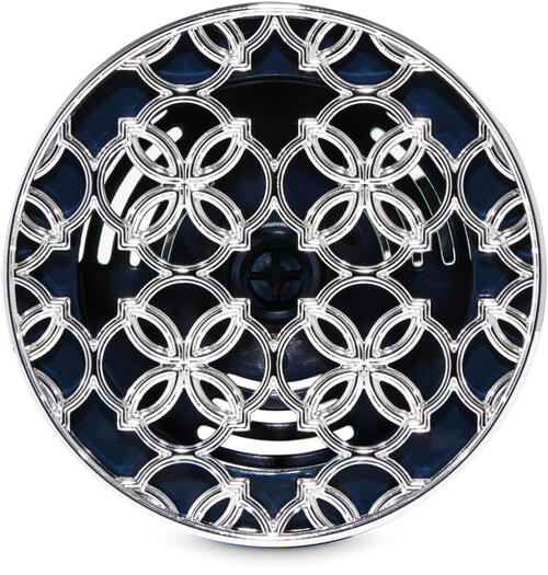 Overlapping Quatrefoil Vent Clip Car Fragrance Holder