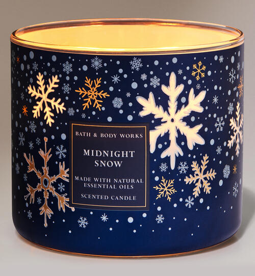 Midnight Snow 3-Wick Candle