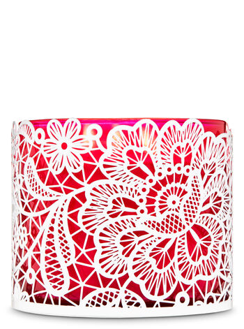 Floral Lace 3-Wick Candle Holder - Bath And Body Works