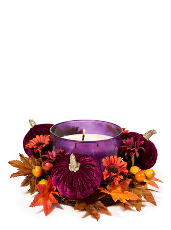 Maroon Pumpkin 3-Wick Candle Ring - Bath And Body Works