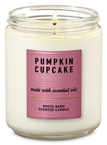 Pumpkin Cupcake Single Wick Candle - Bath And Body Works