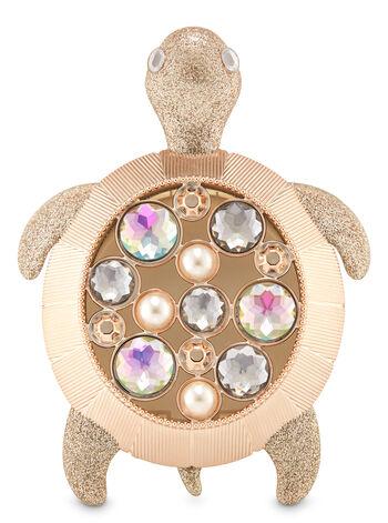 Sparkly Gemstone Turtle Visor Clip Car Fragrance Holder