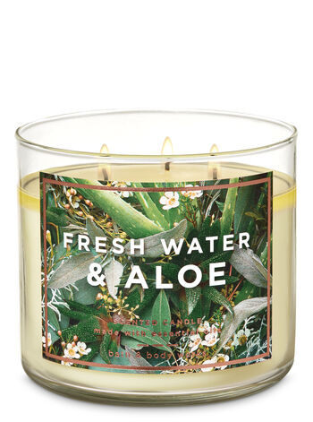 Fresh Water & Aloe 3-Wick Candle - Bath And Body Works