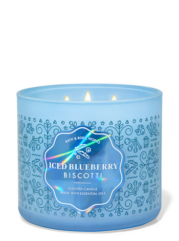 Iced Blueberry Biscotti 3-Wick Candle