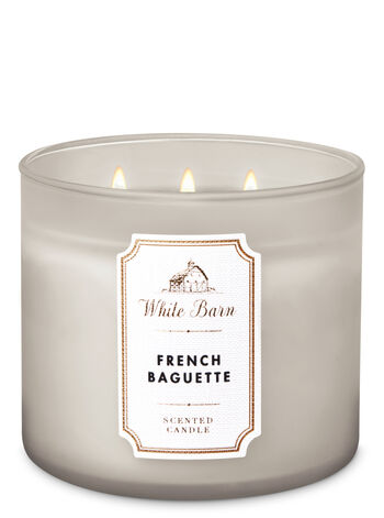 White Barn French Baguette 3-Wick Candle - Bath And Body Works