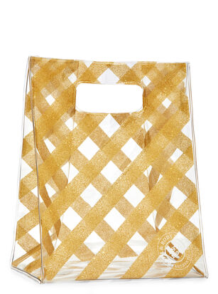 Gold Striped Gift Bag