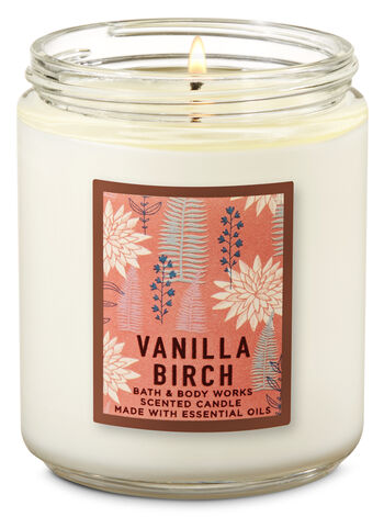 Vanilla Birch Single Wick Candle - Bath And Body Works