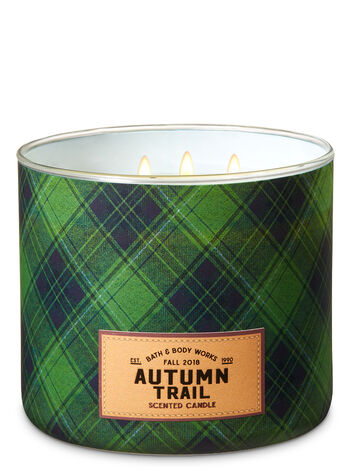 Autumn Trail 3-Wick Candle - Bath And Body Works