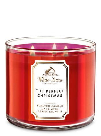White Barn The Perfect Christmas 3-Wick Candle - Bath And Body Works