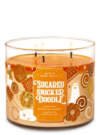Sugared Snickerdoodle 3-Wick Candle - Bath And Body Works