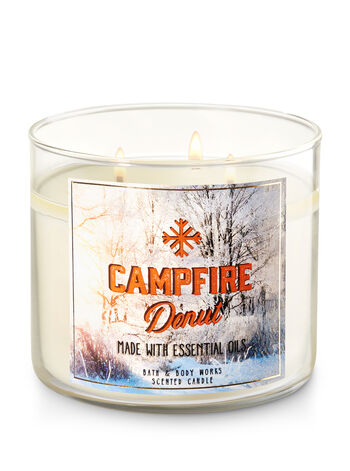Campfire Donut 3-Wick Candle - Bath And Body Works