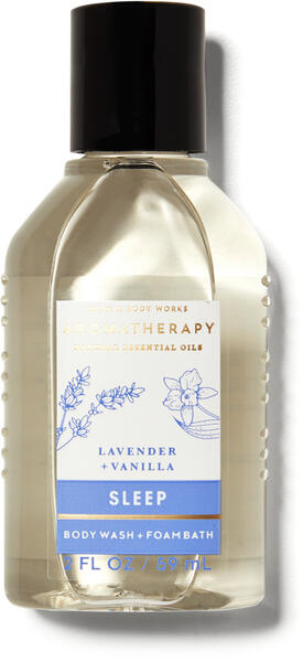 Lavender Vanilla Travel Size Body Wash and Foam Bath