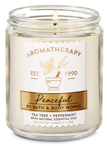 Aromatherapy Tea Tree Peppermint Single Wick Candle - Bath And Body Works