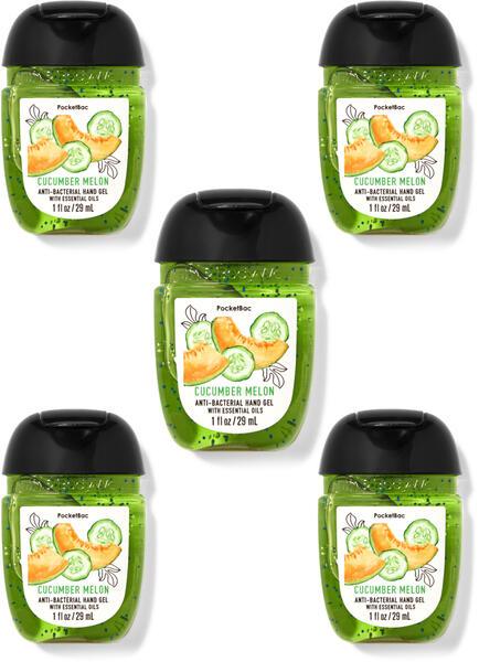 Cucumber Melon PocketBac Hand Sanitizer, 5-Pack