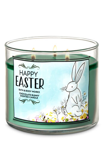 Chocolate Bunny 3-Wick Candle - Bath And Body Works