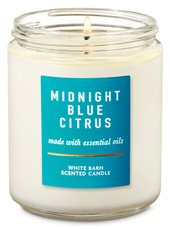 Midnight Blue Citrus Single Wick Candle - Bath And Body Works