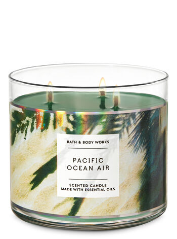 Pacific Ocean Air 3-Wick Candle - Bath And Body Works