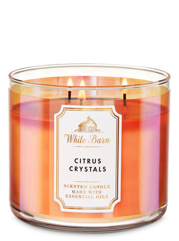 White Barn Citrus Crystals 3-Wick Candle - Bath And Body Works