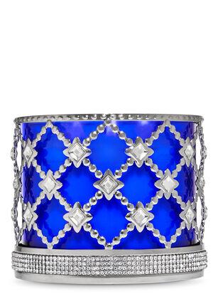 Floral Gemstone 3-Wick Candle Holder