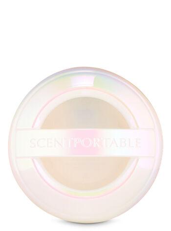 White Iridescent Visor Clip Car Fragrance Holder