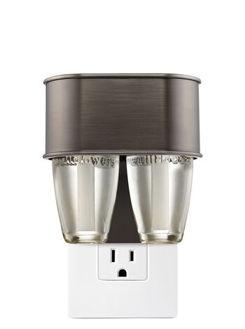 Brushed Faux Nickel Nightlight Scent Switching™ Wallflowers Duo Plug