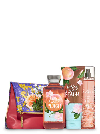 Pretty as a Peach Fold-Over Cosmetic Bag Gift Set