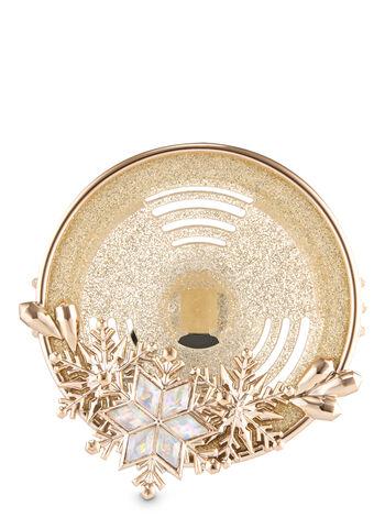 Gold Snowflake Vent Clip Car Fragrance Holder