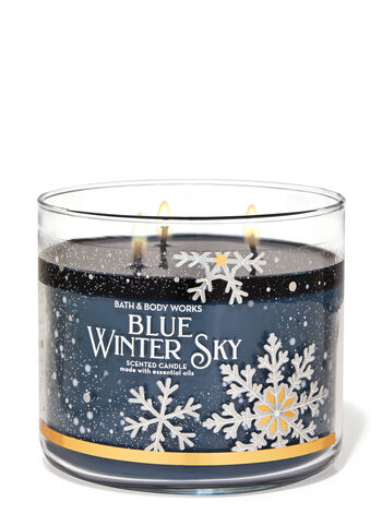 Blue Winter Sky 3-Wick Candle