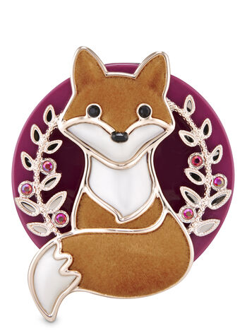 Fall Fox Visor Clip Car Fragrance Holder