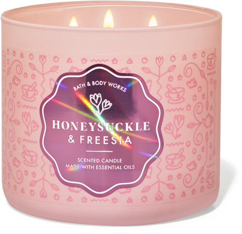 Honeysuckle & Freesia 3-Wick Candle