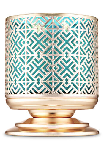 Geometric Tile Pedestal 3-Wick Candle Holder - Bath And Body Works
