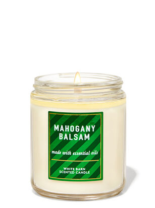 Mahogany Balsam Single Wick Candle