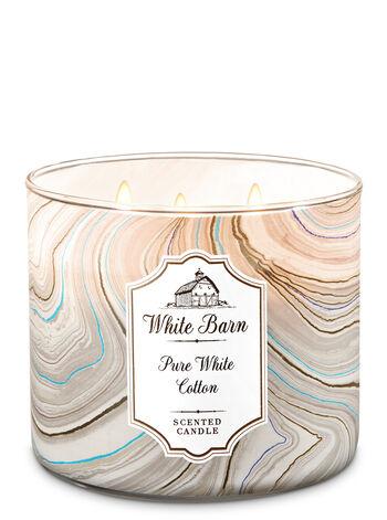 Pure White Cotton 3-Wick Candle